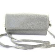 Leather pouch bag 'Frandi'mouse grey (2 bellows)leopard.