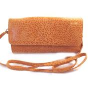 Leather pouch bag 'Frandi'orange (2 bellows)leopard.