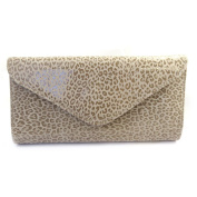 Leather pouch bag 'Frandi'mole (2 bellows)leopard.