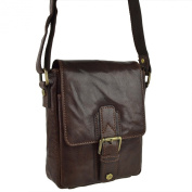 Mens Ladies Compact Buffalo LEATHER Cross Body BAG By PrimeHide Shoulder Travel