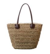 Tonwhar® Sea Grass Hollow Woven Tote Bag Straw Beach Bag with Drawstring