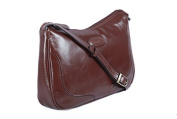 Chestnut Brown Leather Slim Cross Body Handbag Shoulder Bag by Ashwood