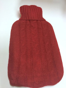 KNITTED LARGE HOT WATER BOTTLE WITH BEAUTIFUL COVER - 4 DIFFERENT COLOURS