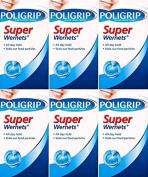 Poligrip Wernets Powder Super 50g x 6 Packs