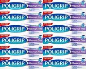 Poligrip Denture Fixadent Cream Flavour Free 40g x 12 Packs