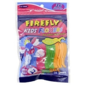 Dr. Fresh Oral Care Firefly Kids Flossers - 30 Flossers X 4 Packs ()
