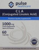 Pulse Healthcare 1000mg CLA/ Conjugated Linoleic Acid Premium Quality GMP Supplement - Pack of 60 Capsules
