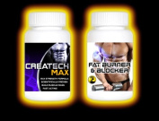 1 Months Fatburner + 1 Months Createch Max. FAT Blocker , FAT Burner for Men and Women GET RIPPED Muscle Growth BodyBuilding , (1 month supply) , how can i get 6 packs
