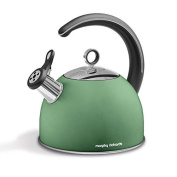 Accents 2.5 Litre Whistling Stove Top High Grade Stainless Steel Kettle In Sage