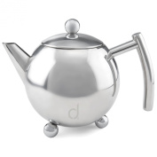 Andrew James Stainless Steel Infusion Teapot With Removable Strainer - 4-5 Cup Capacity