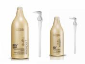 L'Oréal Professionnel Serie Expert Absolut Repair Lipidium Shampoo 1500ml, Conditioner 750ml and Pump Bundle