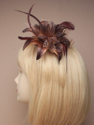 Allsorts® Brown Feather Comb Fascinator Brooch Pin Ladies Day Royal Ascot Weddings