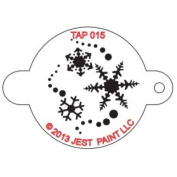 TAP Re-useable Face Paint Stencils - TAP015 Snowflakes