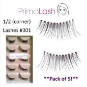 PrimaLash 5 Pairs False Eyelashes Petite/corner/accent lashes #301 Value Pack