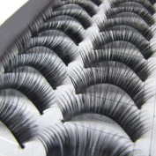 10 Pairs Handmade Long Thick False Eyelashes