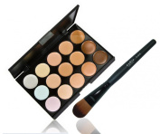 LyDia 15 Colours Cream Concealer/Highlight/Face Contour Camouflage Palette Dull/Redness Skin/Black Circle kit set