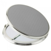 FMG 5x Magnification Silver & Chrome Travel Mirror 962/13 SIL
