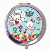 Rachel Ellen Boxed Compact Mirror - Tweet Tweet Bird