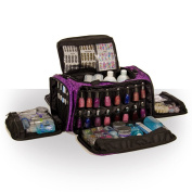 Beauty Bags Imperial Purple Glamour Bag Beautician Cosmetics Case