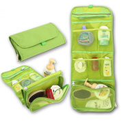 Luxury Ladies Womens Mens Travel Wash Bag Toiletry Makeup Organiser Folding Case Pound Cosmetic Organiser Green