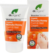 Dr organic manuka honey foot & heel cream 125ml