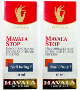 2 Pack of Mavala Stop Nail Biting and Thumb Sucking 0.3oz/10ml, Mavala Switzerland, Value Pack