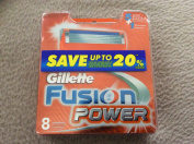 Gillette Fusion Power 8-Pack Razor Blades 100% ORIGINAL & GENUINE