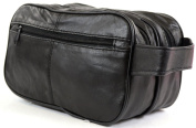Men's Super Soft Nappa Leather Toiletries / Travel / Holiday / Over Night / Weekend Wash Bag