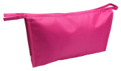 BLACK & PINK WASH BAG-TOILETRY-COSMETIC-TRAVEL-MAKE UP-ZIPPED TOP