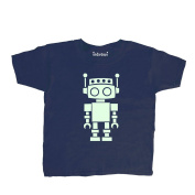 Inda-Bayi Baby-Toddler-Kids Cotton T Shirt - glow in the dark robot