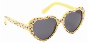 Baby Toddler Sunny Yellow Heart Sunglasses with Soft Durable Plastic Frame and Black Smoked Lenses Providing Full UV 100% Protection Ideal for 0 to 3 Years
