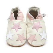 Soft Leather Baby Shoes Little Stars Pink 0-6 months