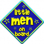 FUNKY LITTLE MEN Baby on Board Car Window Sign