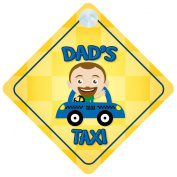 Dad's Taxi Car Sign Funny Novelty Gift / Present Baby on Board Style Sign