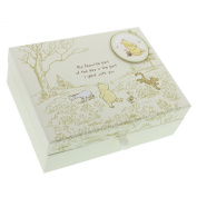 Disney Classic Pooh Keepsakes Baby Box with Compartments NEW