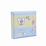 Baby Boy Blue Slip In Case Photo Album For 200 Photos