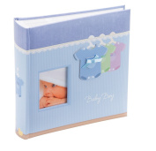 Kenro baby boy blue dress outfit design traditional photo album with 50 sheets / 100 pages