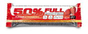 QNT 50% Full Protein 50 g Strawberry Muscle Development and Recovery Snack Bars - Box of 12
