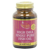 Vega High DHA Finest Pure Fish Oil - Pack of 30 Softgels Capsules