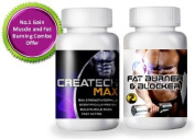 Creatine Createch Max Plus + FAT Blocker Burner for Men Women GET RIPPED Muscle Growth BodyBuilding Fat burner, (1 month supply) , how can i get 6 packs