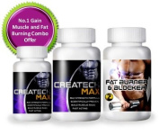 2x Creatine Createch Max Plus + 1x FAT Blocker Burner for Men Women GET RIPPED Muscle Growth BodyBuilding Fat burner, (2 month supply) , how can i get 6 packs