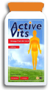 ActiveVits Omega Fish Oil 3,6,9 1000mg 90 Caps + 30 Free Memory Support and Stress Relief