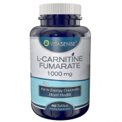VitaSense L-Carnitine Fumarate 1000 mg - Fat to energy converter, heart health - 60 tablets