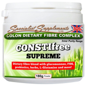CONSTIfree Supreme Colon Cleanser - with L-Glutamine (180g of Powder Per Tub) - Specialist Supplements