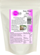 Goat and Sheep Whey Protein Concentrate Powder 420g - Soy free whey protein, grass fed hormone free - PINK SUN Easy Whey Xtra