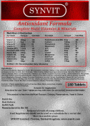 Antioxidant Formula - Complete Multi-Vitamins & Minerals x 180 Synvit Foil Pack