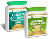 Garcinia Cambogia - AMAZING Fat Burner + Full Body Detox - 30 x High Strength Pills PLUS Colon Cleanse ALOE VERA Tablets - Specially Formulated for Super Fast Weight Loss - Lose Up 7.7kg In 12 Weeks ! - Garcinia Cambogia WHOLEFRUIT Not An Extract ! ..