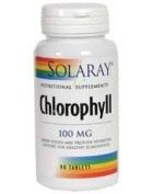 Solaray 100 mg Chlorophyll Tablets - Pack of 90