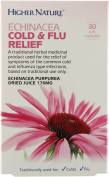 Higher Nature Echinacea Cold & Flu Relief - 30 soft capsules