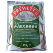 Prewetts Organic Premium Ground Flaxseed 175g - Pack of 3